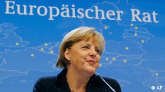 German Chancellor Angela Merkel speaks during a media conference at an EU summit in Brussels on Friday, Nov. 23, 2012 (Photo: Michel Euler/AP/dapd)