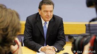 Pressekonferenz Schröder