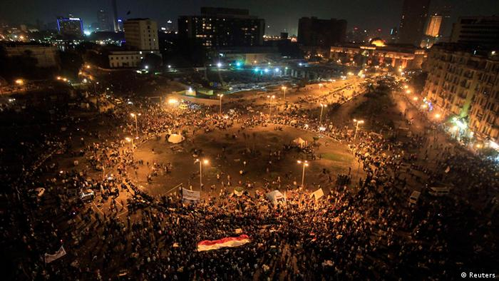 Protesters on Cairo's Tahrir Square in 2012