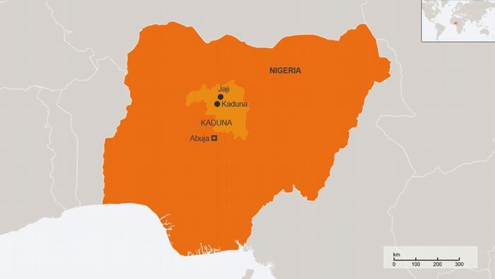Karte Nigeria englisch