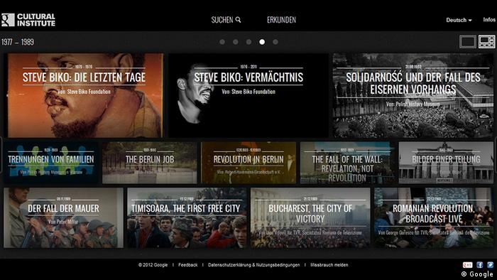 Screenshot Google Cultural Institute