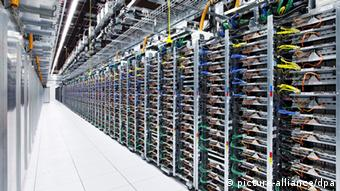 An image of Google's data center in Oklahoma.