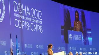 Klimakonferenz in Doha (Photo credit should read KARIM JAAFAR/AFP/Getty Images)