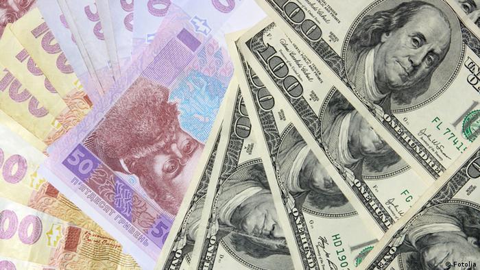Dollar Hrywnja Währung (Fotolia)