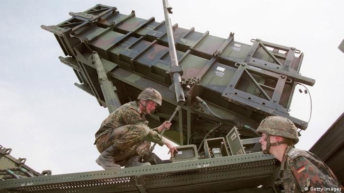 KOERBECKE, GERMANY - MAY 19, 1999: (FILE PHOTO) German soldiers tend to a Patriot anti-missle system May 19, 1999 in Koerbecke, Germany. (Photo by Deutsche Bundeswehr/Getty Images)