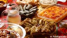 Traditional Bulgarian Christmas table setup with vegetarian dishes 29027050