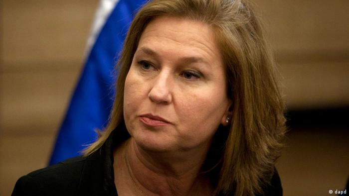 Tzipi Livni, ministra de Justicia de Israel.