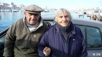 Fish-seller Nana and her husband Michel Lubrano at Vieux-Port in Marseille