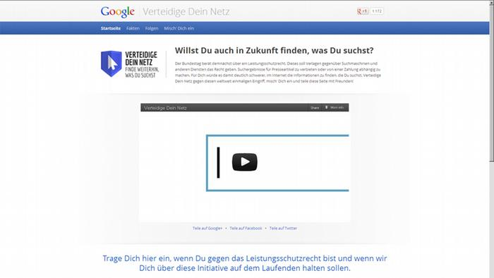 Screenshot Google Aktion Verteidige Dein Netz https://www.google.de/campaigns/deinnetz/?utm_source=google&utm_medium=hpp&utm_campaign=11272012deinnetz ***