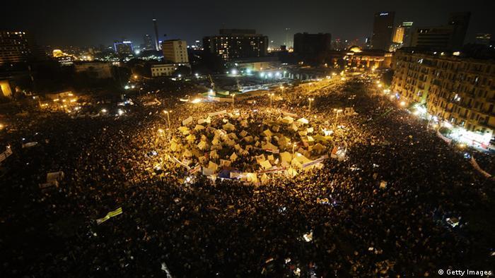Maelfu ya waandamanaji katika uwanja wa Tahrir