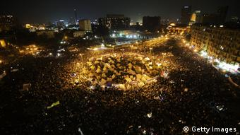 Tens of thousands people take part in a mass rally against a decree by President Mohamed Morsi granting himself broad powers on November 27, 2012 at Egypt's landmark Tahir Square in Cairo. Photo: GIANLUIGI GUERCIA/AFP/Getty Images
