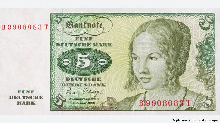 5 марок с портретом венецианской девушки