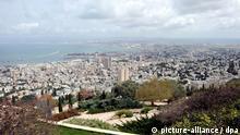 Blick auf die israelische Hafenstadt Haifa