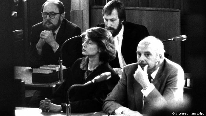 Konrad Kujau and Gerd Heidemann in the courtroom Photo:picture-alliance/dpa