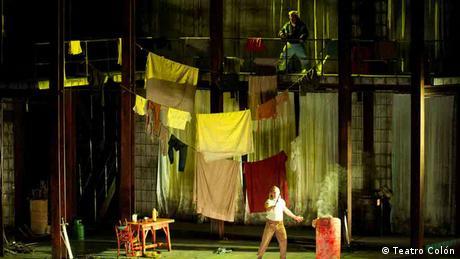 Siegfried und Mime auf der Bühne