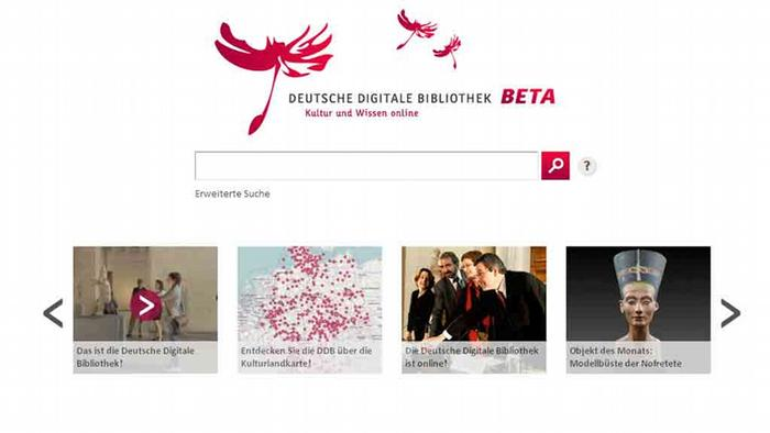A screenshot of the German Digital Library page