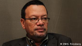 Ronny Jumeau, Botschafter der Seychellen für Klimawandel (Copyright: DW/A. Rönsberg)