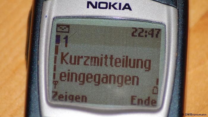 25 years SMS: short message on Nokia 6210 mobile phone (DW/Brunsmann)