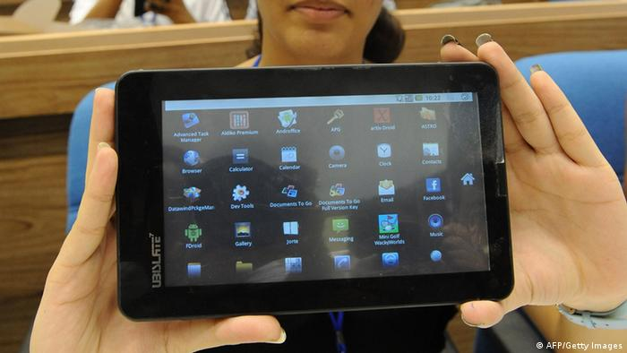 Akash Tablet PC Indien Technologie Kommunikation Neue Medien Computer (AFP/Getty Images)
