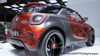 A Smart Forstars is presented during the press days at the Paris Motor Show on September 28, 2012 at the Porte de Versailles exhibition center in Paris. The event runs from September 29, to October 14, 2012. AFP PHOTO ERIC PIERMONT (Photo credit should read ERIC PIERMONT/AFP/GettyImages)