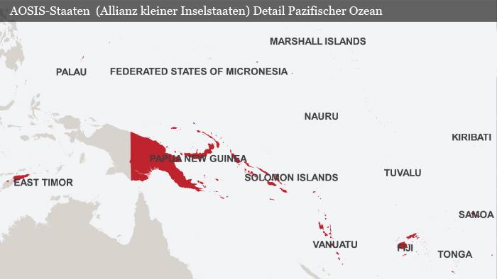 Karte AOSIS Staaten Detail Pazifik