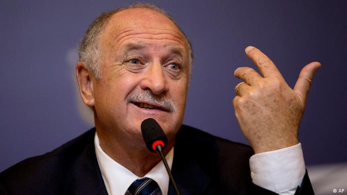 Brazil's soccer coach Luiz Felipe Scolari speaks at a press conference presenting him as Brazil's new coach, in Rio de Janeiro, Brazil, Thursday, Nov. 29, 2012. (Photo via AP)