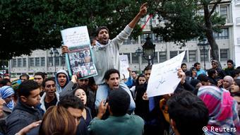 Die Proteste gegen soziale Missstände in Siliana Ende November und Anfang Dezember 2012 dauerten tagelang an. (Foto: Reuters)