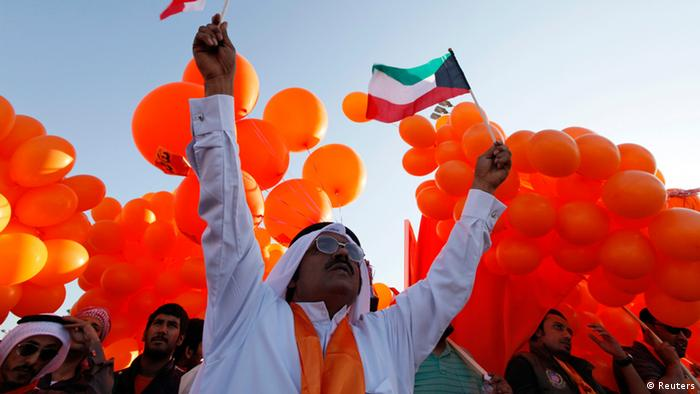 Kuwaiti opposition supporters (photo: REUTERS/ Jamal Saidi)