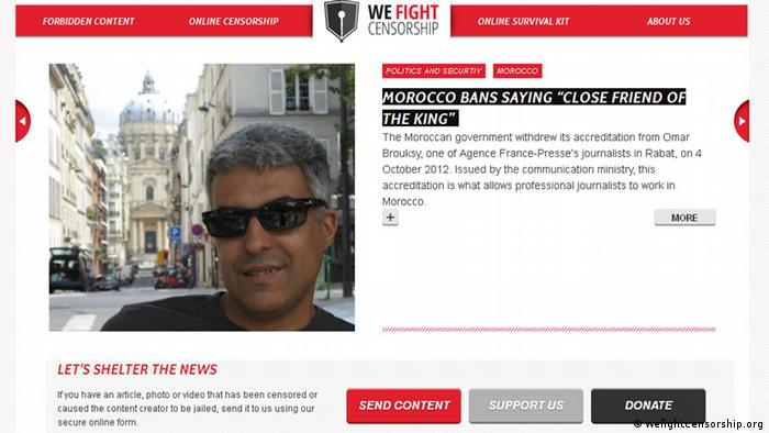 Screenshot wefightcensorship.org