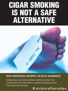 Proposed health warnings for tobacco products in Australia in 2011. (Photo: EPA/DEPARTMENT OF HEALTH AND AGEING AUSTRALIA AND NEW ZEALAND)