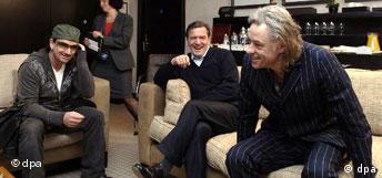 Schröder trifft Geldof und Bono auf G8-Gipfel