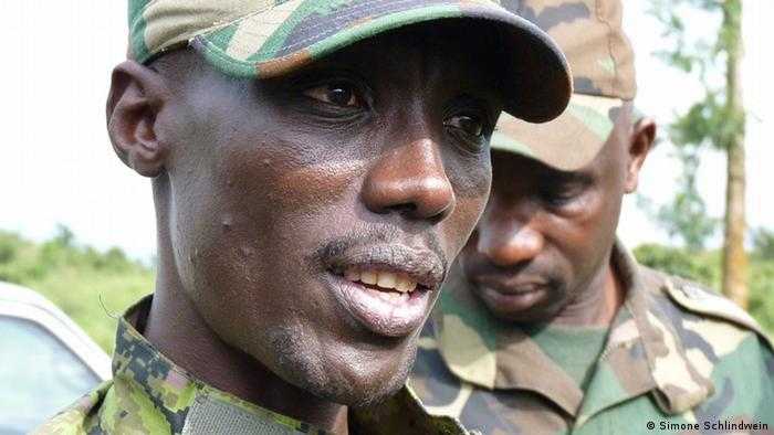 Ostkongo Goma Rebellenführer Makenga (Simone Schlindwein)