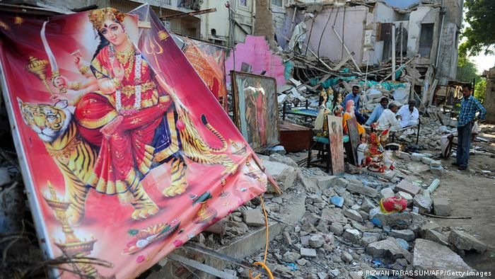 Pakistan destroyed Hindu Tempel in Karatschi (RIZWAN TABASSUM/AFP/Getty Images)