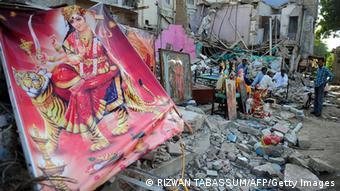 Pakistan zerstörtes Hindu Tempel in Karatschi