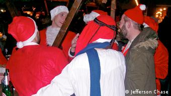 Revellers at the Sofia Christmas market in Berlin.