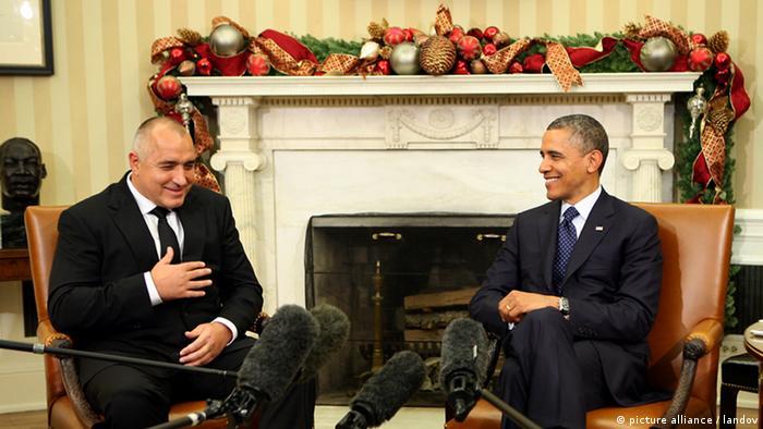 Barack Obama USA und Boyko Borissov Bulgarien Weißes Haus
