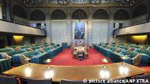2012-09-10 Interior view of the meeting room of the Dutch senate (eerste kamer) in the Hague, the Netherlands on 10 September 2012. ANP XTRA LEX VAN LIESHOUT