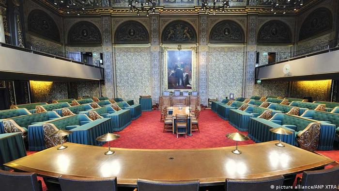 Ein Blick auf die erste Kammer des niederländischen Parlaments. Foto: ANP