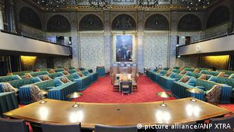 Interior view of the meeting room of the Dutch senate (eerste kamer) in The Hague, the Netherlands Photo: ANP XTRA LEX VAN LIESHOUT