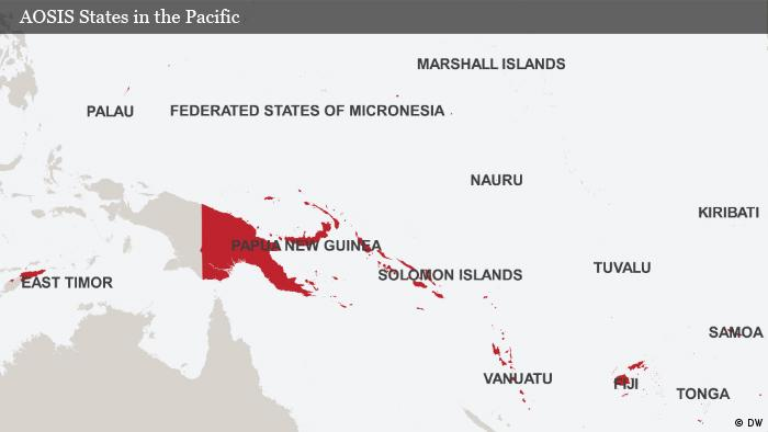 Map AOSIS States in the Pacific