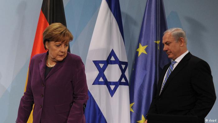 Merkel and Benjamin Netanjahu Foto: Oliver Lang/dapd