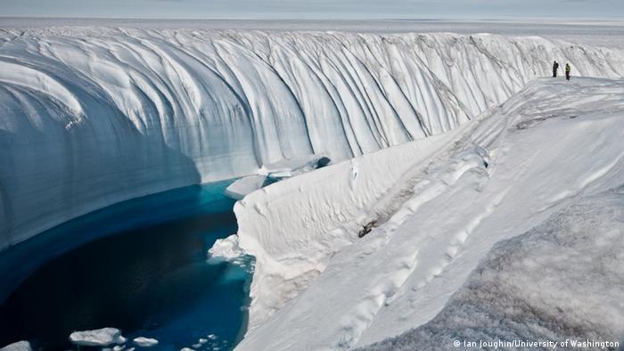 Das Grönlandeis. (Foto: Ian Joughin/University of Washington)
