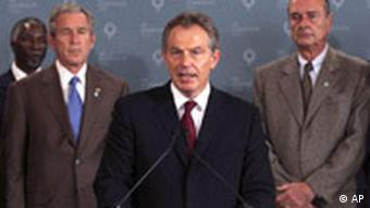 Blair auf G8-Treffen
