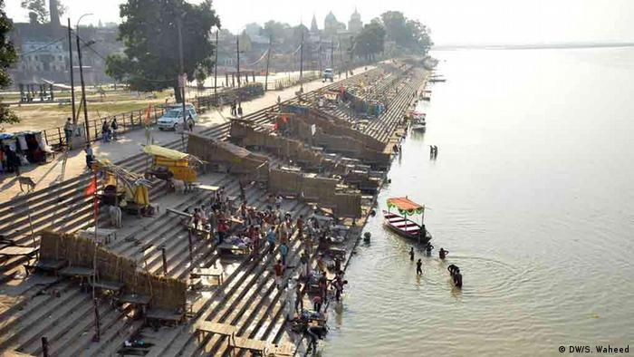 Indien Fluss Sarayu in Ayodhya (DW/S. Waheed)