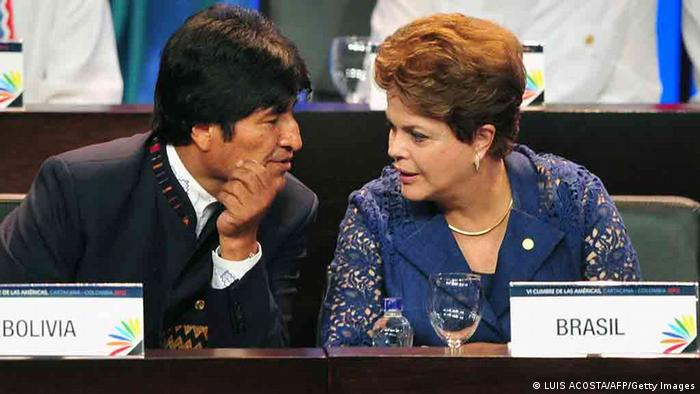 Boliviens Präsident Evo Morales und Brasiliens Präsidentin Dilma Rousseff (Foto: LUIS ACOSTA/AFP/Getty Images)