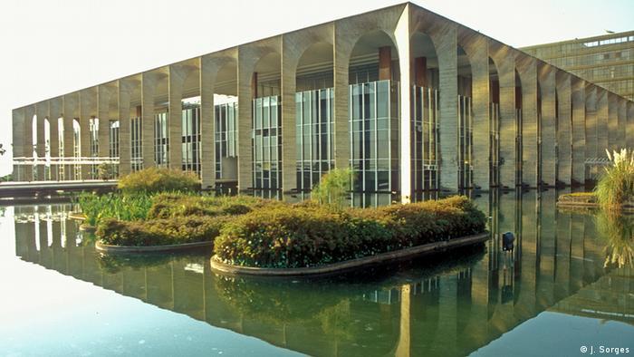 Palácio do Itamaraty, sede do Ministério das Relações Exteriores em Brasília.