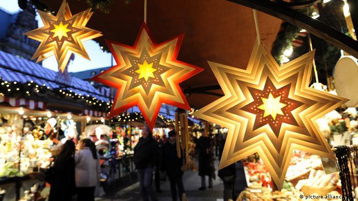 Один из рождественских базаров в Гамбурге