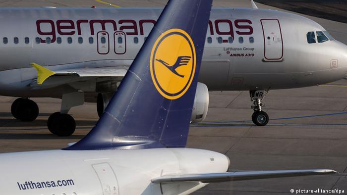 Самолеты Lufthansa и Germanwings