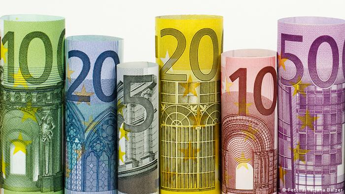 Picture showing euro banknotes rolled up. Tatjana Balzer - Fotolia 44966116