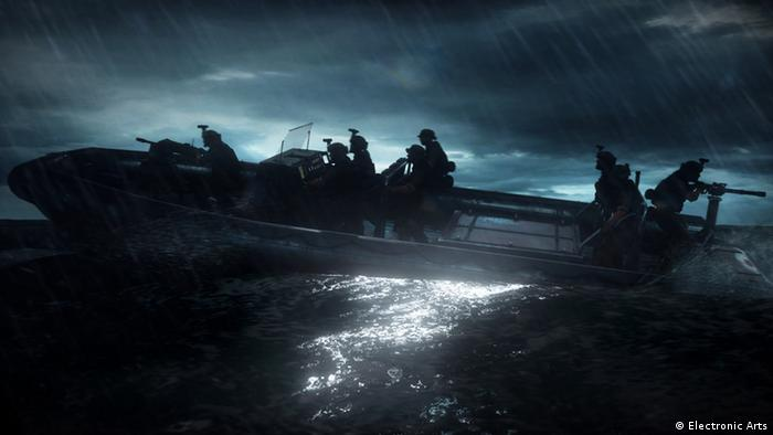 Scene from the game Medal of Honor